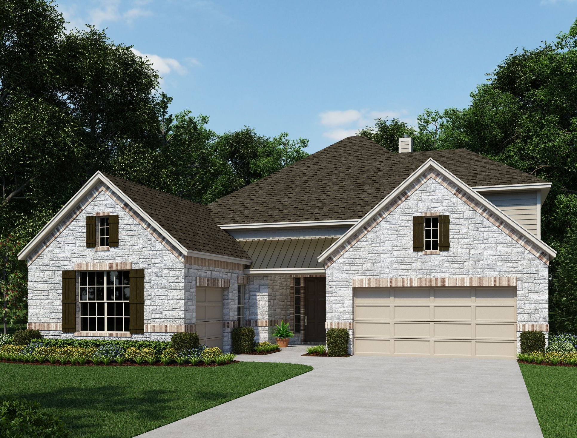 Exterior:The Estates at Stone Crossing - Montrose Elevation Image 1