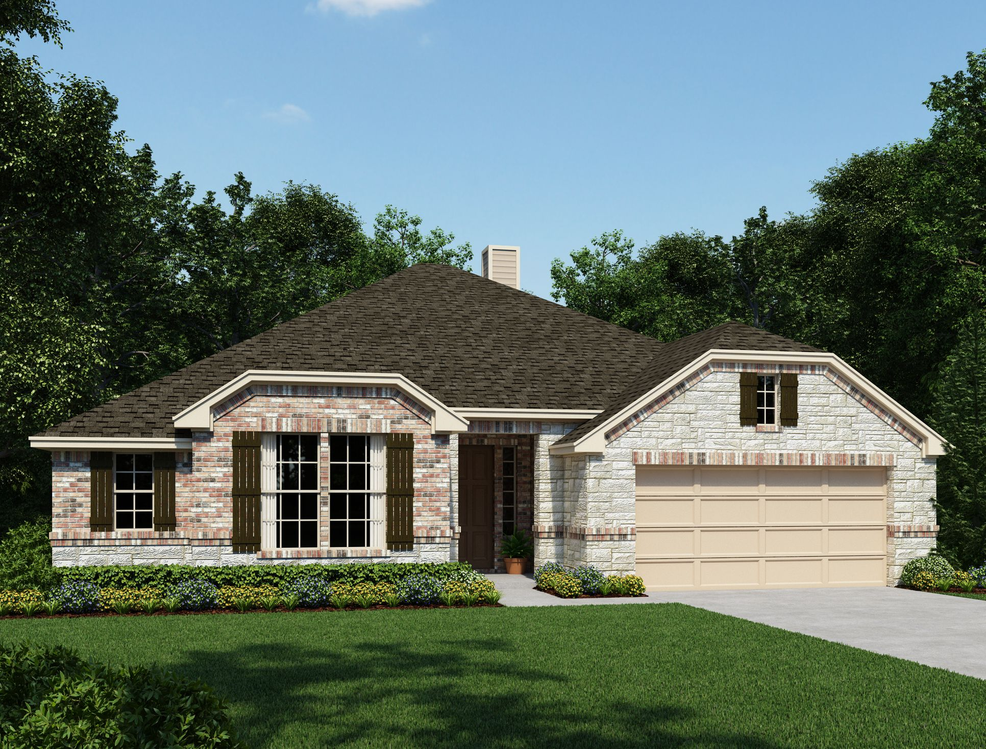 Exterior:Front Gate at Fair Oaks Ranch - Antonio Elevation Image 1