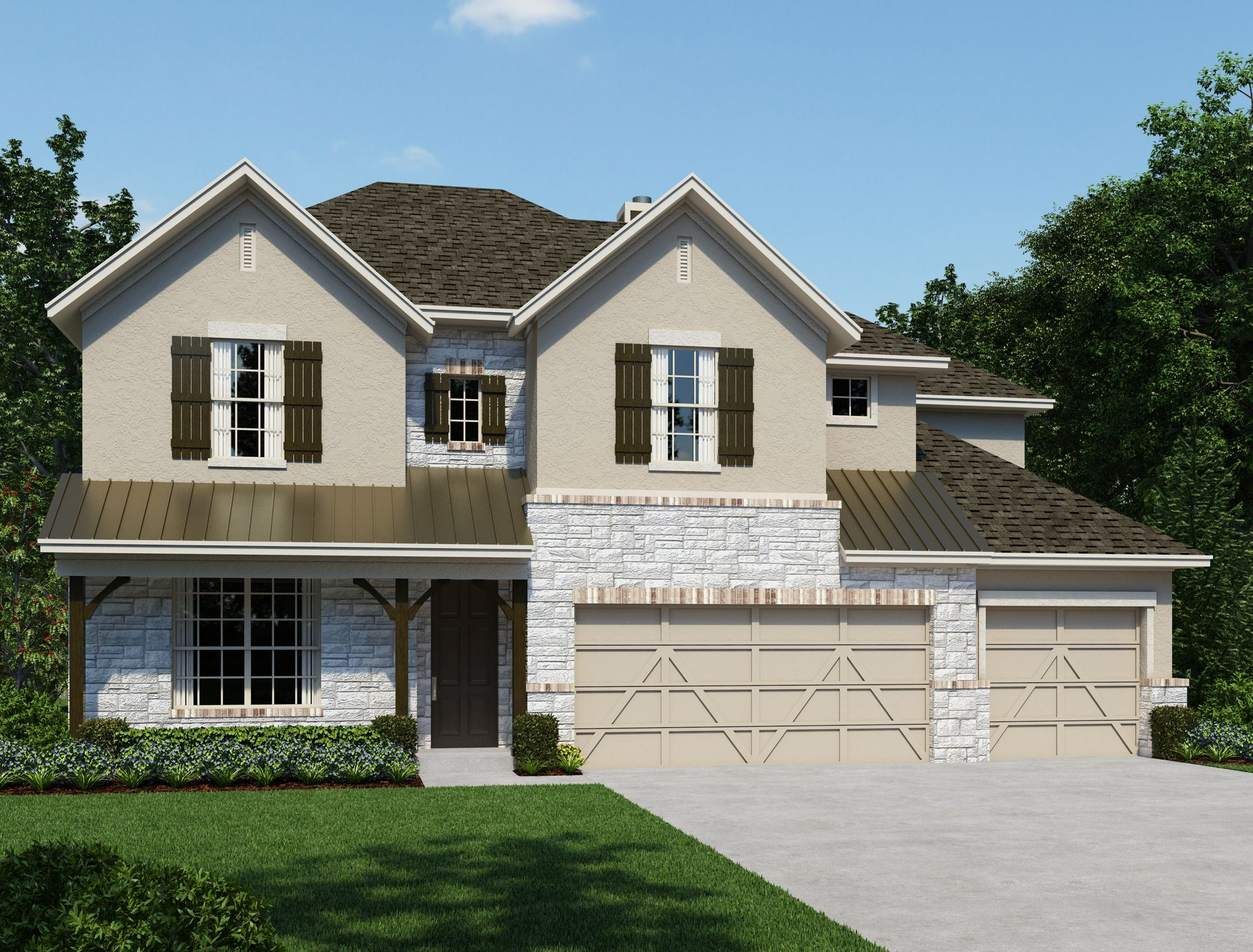 Exterior:The Estates at Stone Crossing - Procaccino  Elevation Image 1