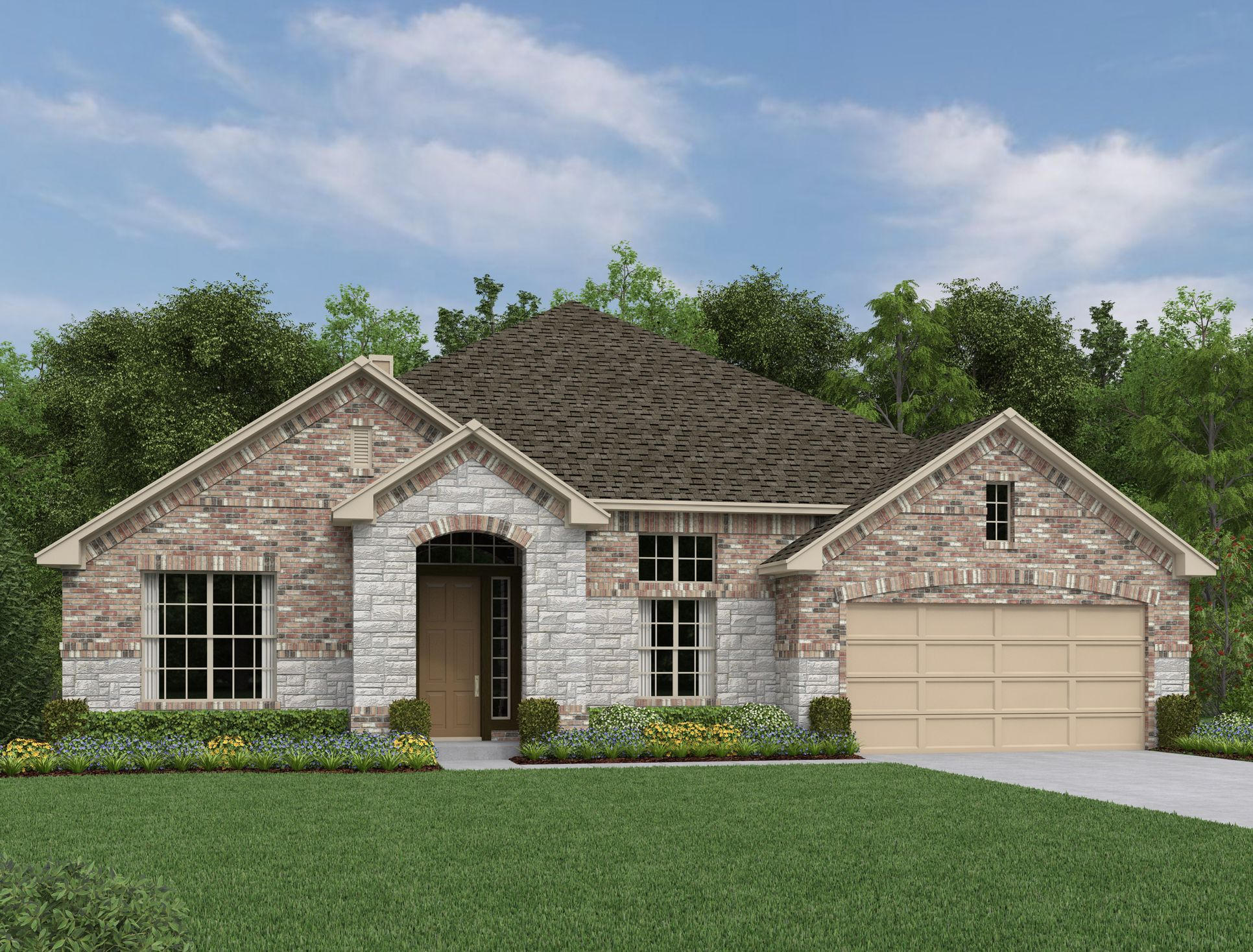 Exterior:Front Gate at Fair Oaks Ranch - Milam Elevation Image 1