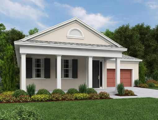 Exterior:Odessa Elevation A Southern Traditional