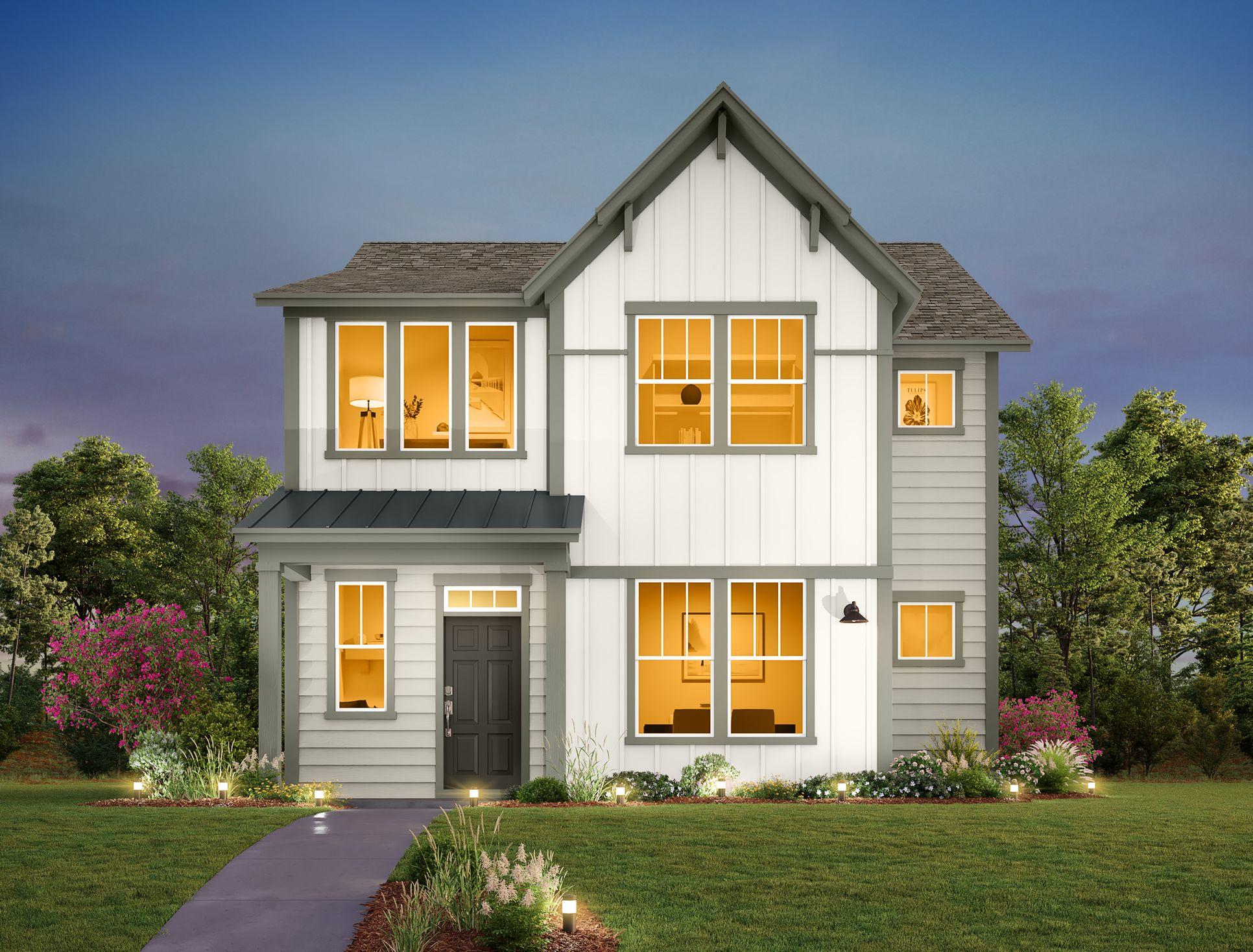 Exterior:Mockingbird Park Cottages - Falcon Elevation Image 1
