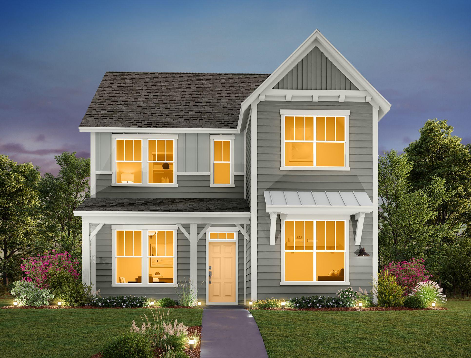 Exterior:Mockingbird Park Cottages - Blue Jay Elevation Image 1