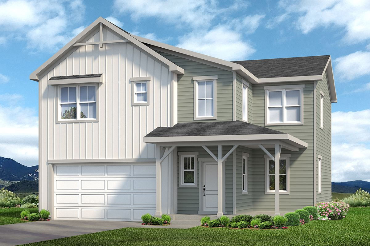 Baessler Homes Welby Plan:Welby 605 Farmhouse Elevation