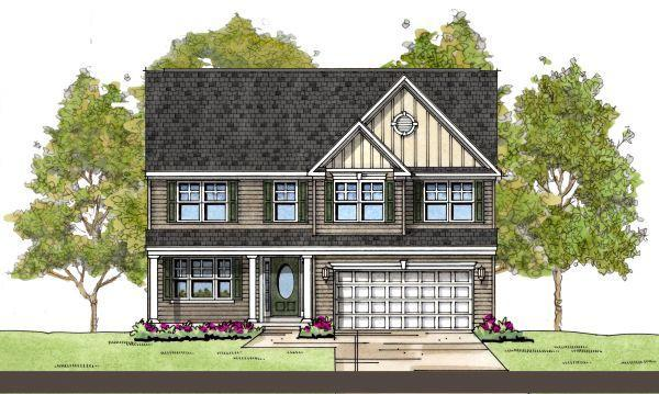 Stratford:Colonial Elevation (w/opt full porch)