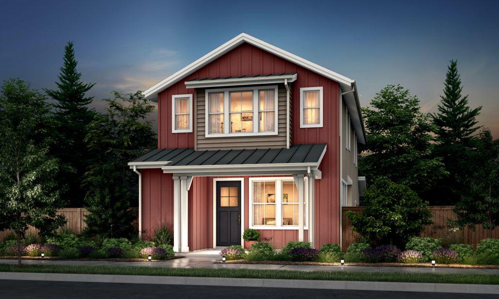 Residence 1:Farmhouse Elevation