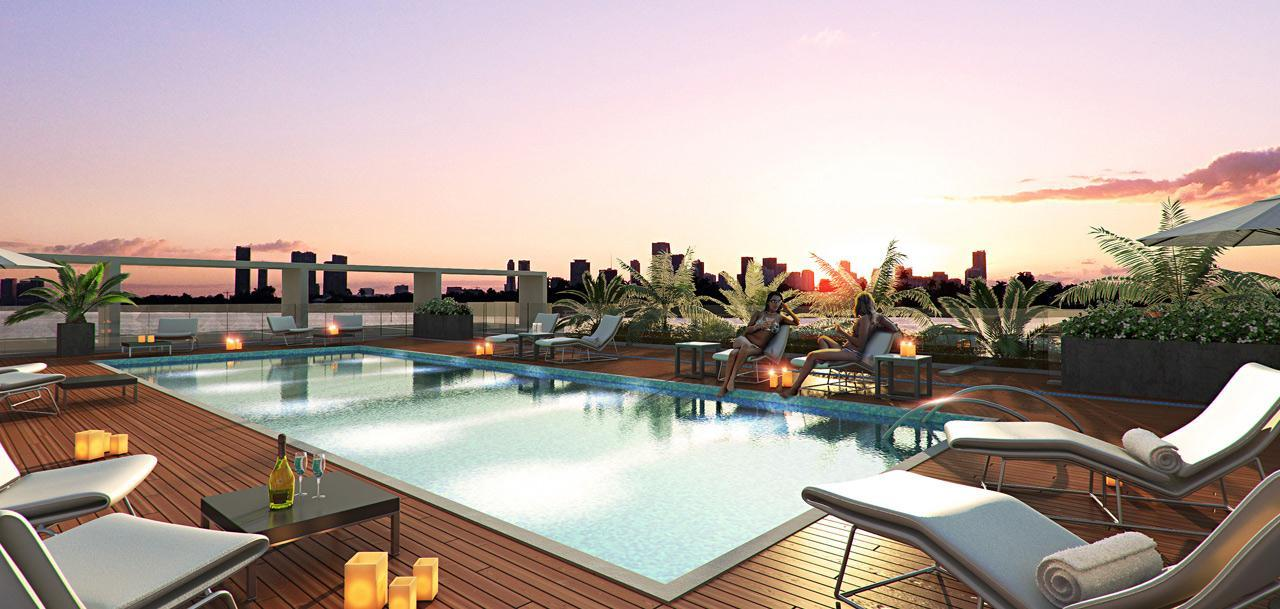 Bay Harbor ONE rooftop pool