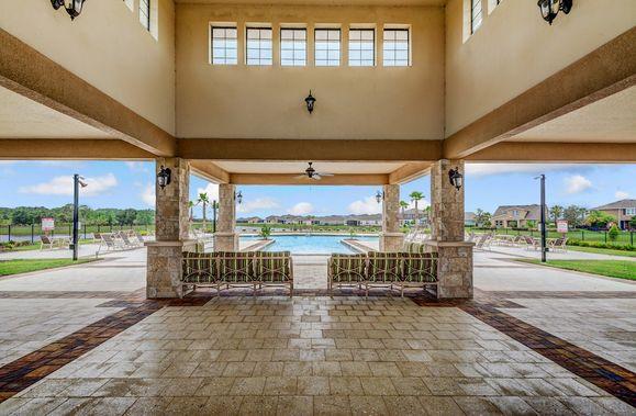 Resort-style community pool and cabana