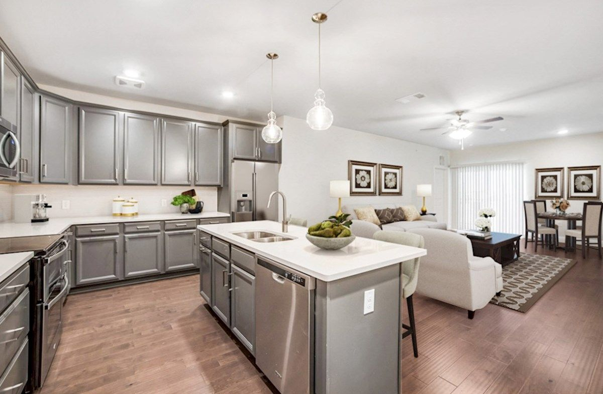 Interior:Clifton Kitchen and Living Area