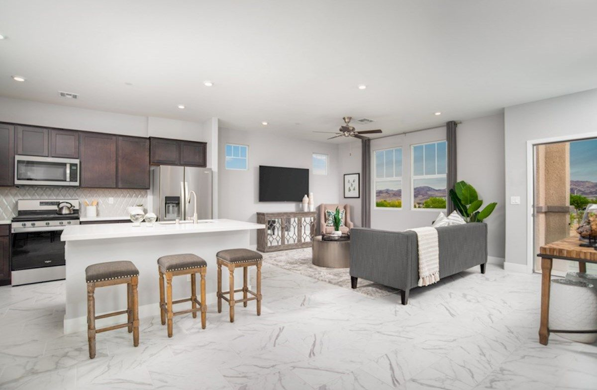 Interior:Bedford Living Room and Kitchen
