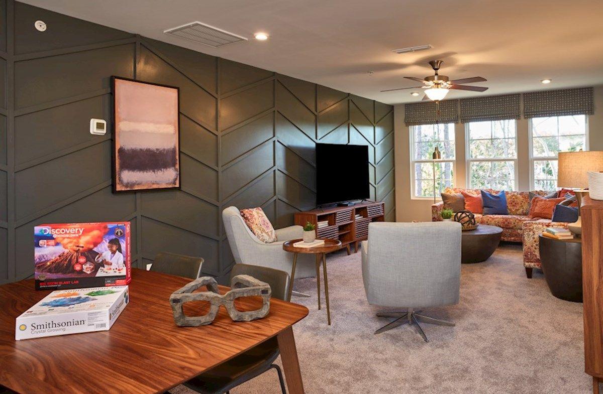 Interior:Waverly II Model Home Bonus Room
