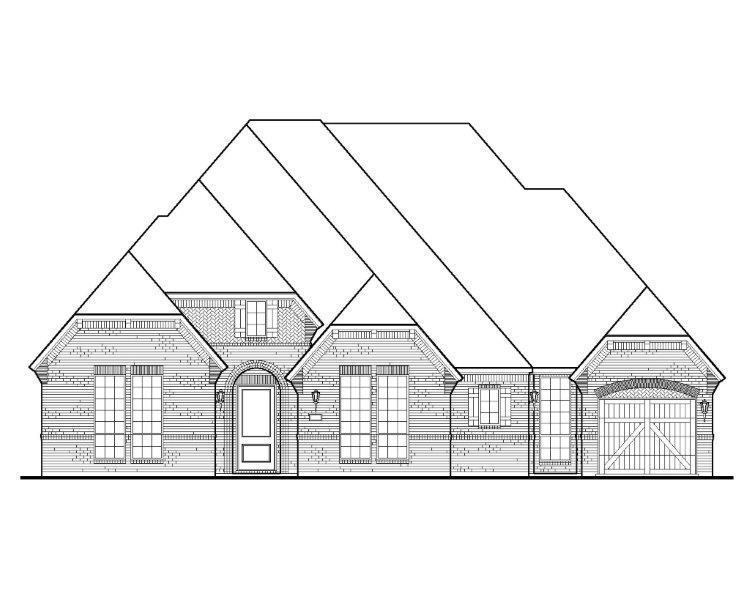 Exterior:B807-A Brick-Marketing Elevation