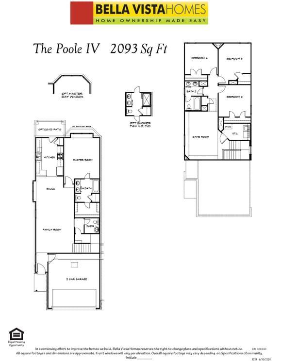 Interior:Floorplan with options