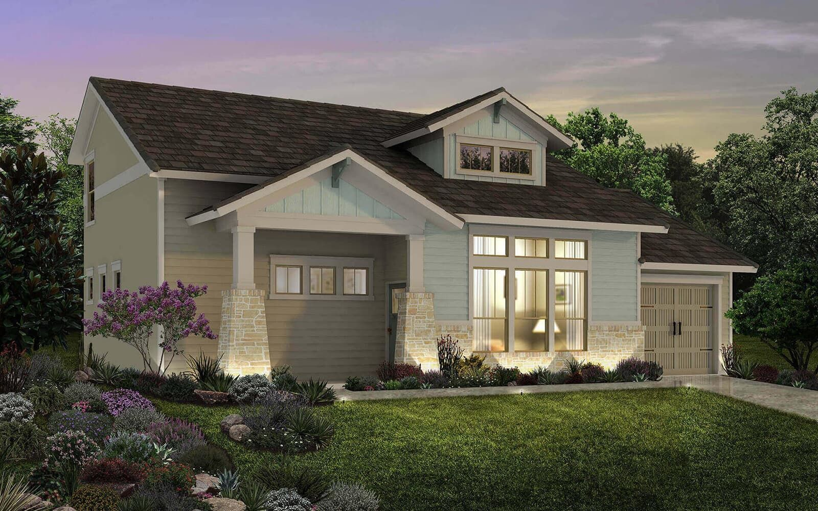 Exterior:floor plan residence 4 a cottages at crystal falls leander texas