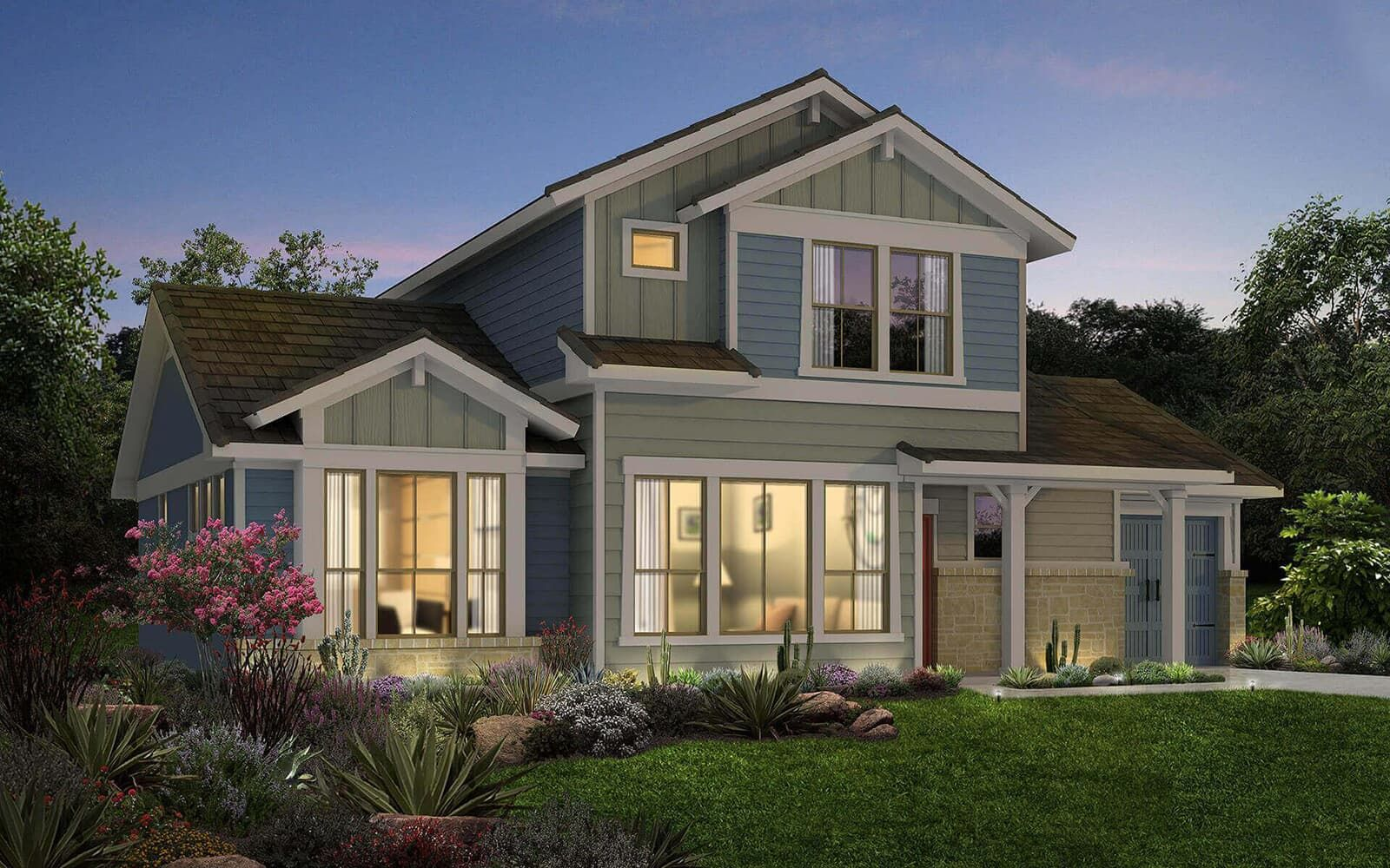 Exterior:floor plan residence 5 a cottages at crystal falls leander texas