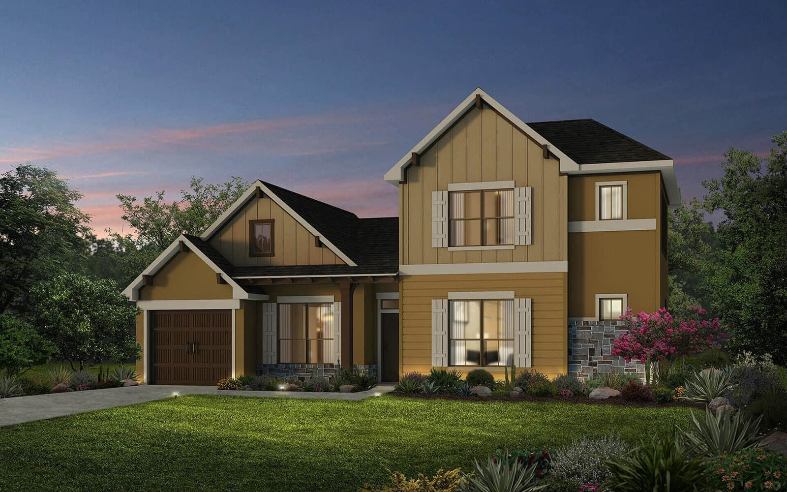 Exterior:floor plan residence 8 a cottages at crystal falls leander texas