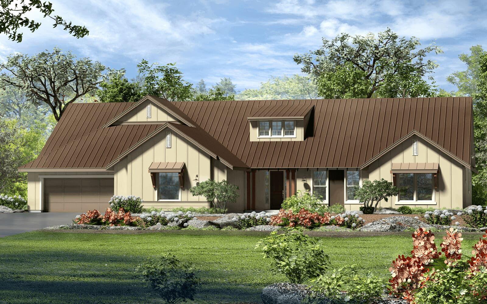Exterior:floor plan bard modern farmhouse kissing tree san marcos texas