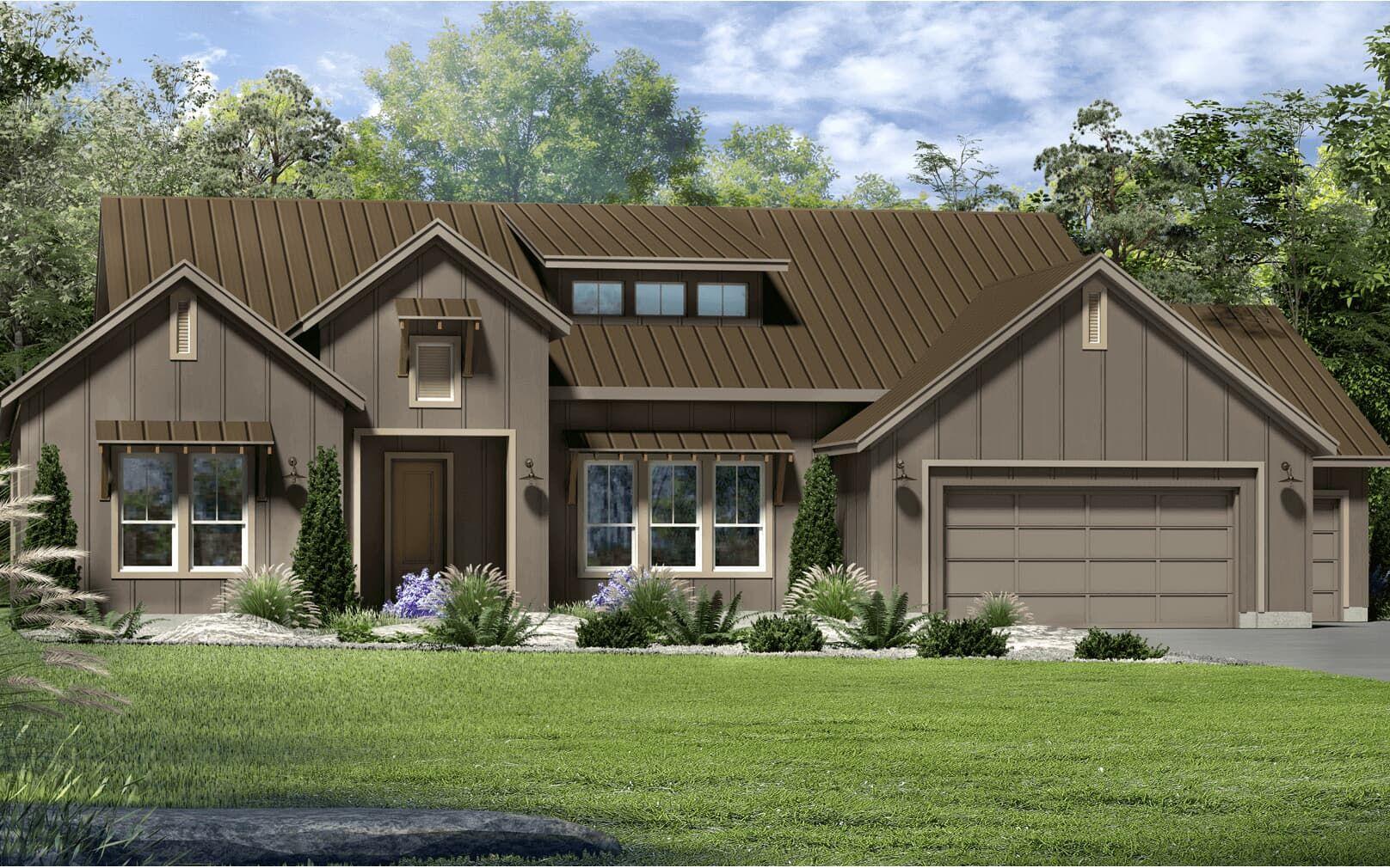 Exterior:floor plan pomona modern farmhouse kissing tree san marcos texas