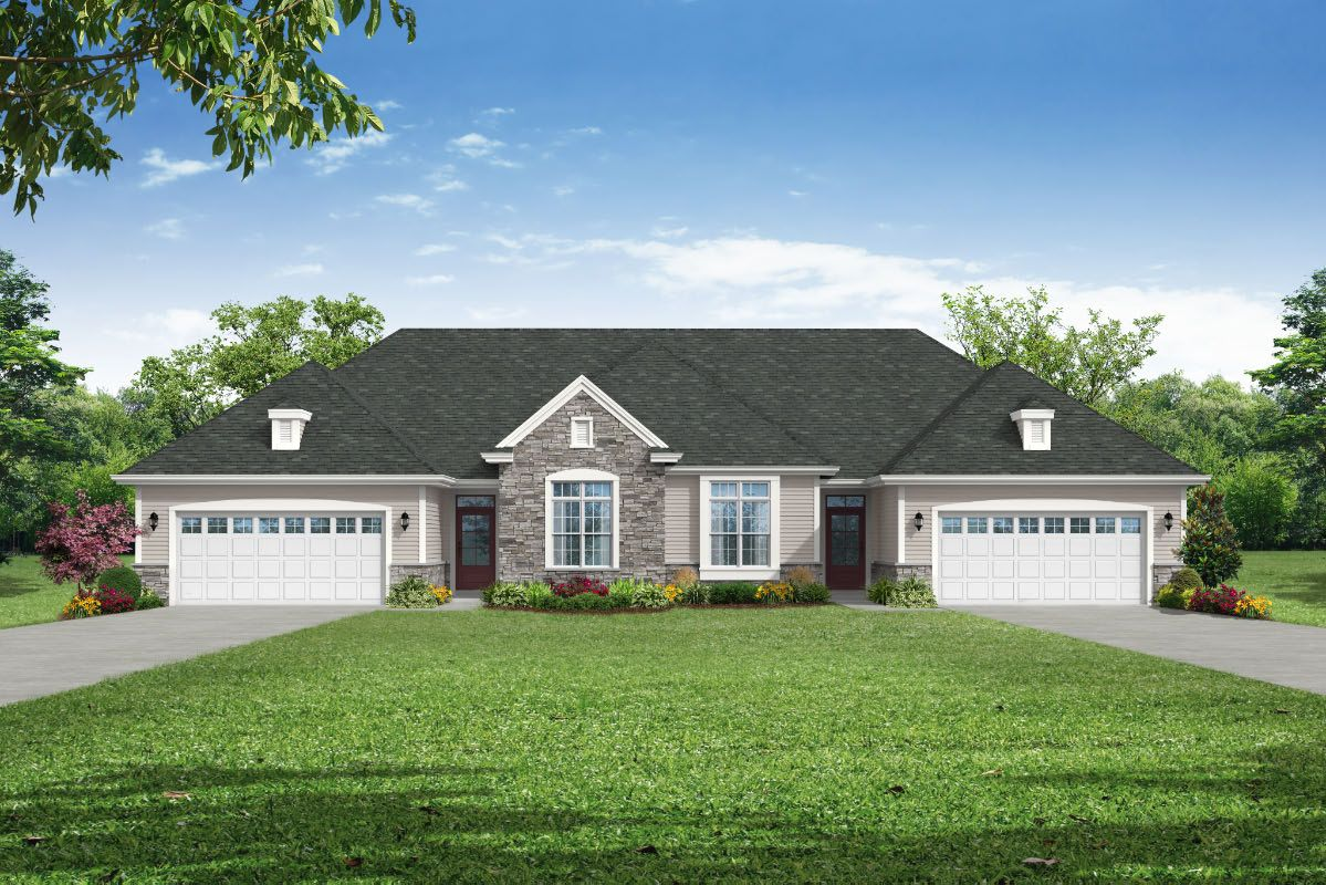 """The Olivia, Plan 1612 - French Country """"A"""" Style in Cobblestone"""
