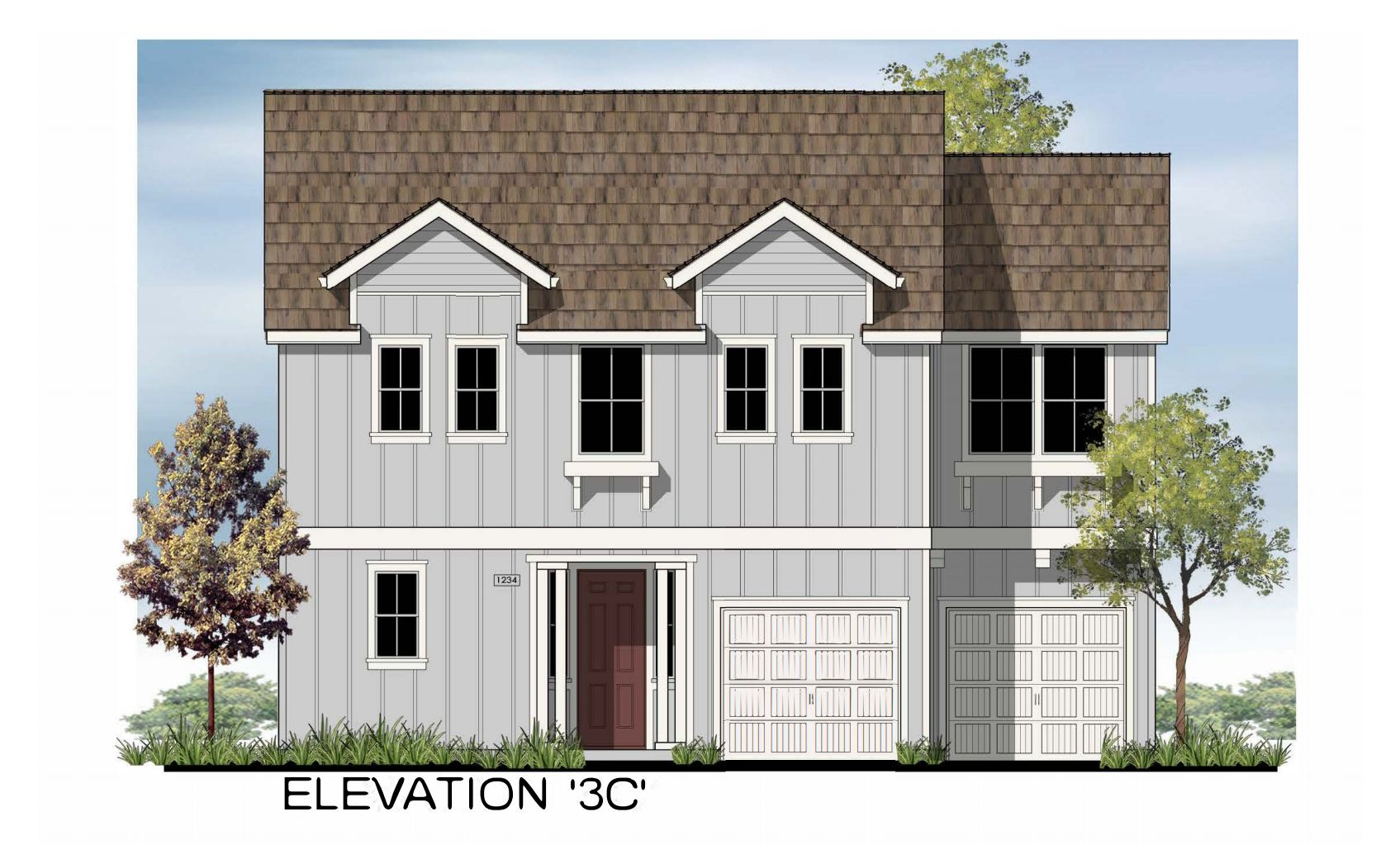 Millstone Residence 3:Elevation 3C