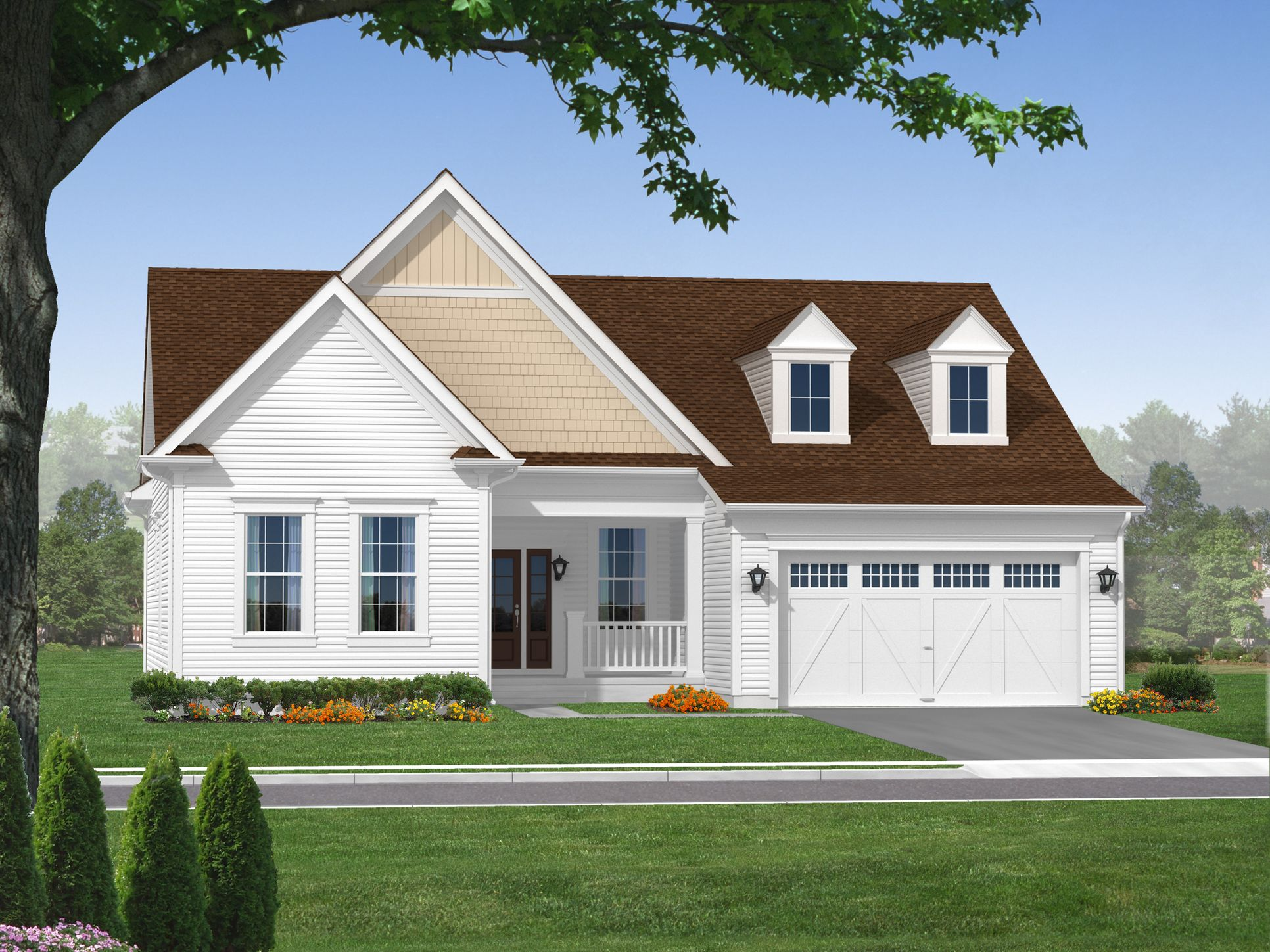The Cooper:Traditional Elevation