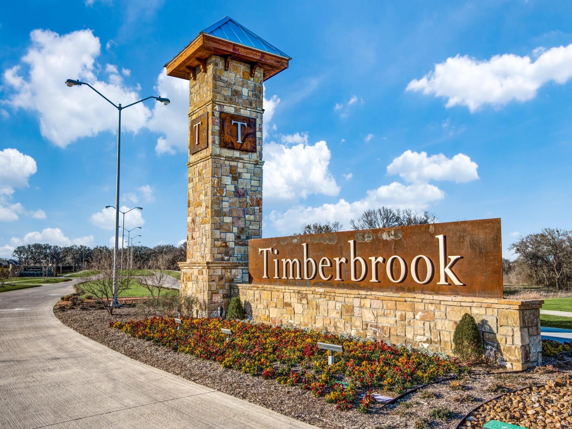 Timberbrook Sign:Timberbrook Community Signs