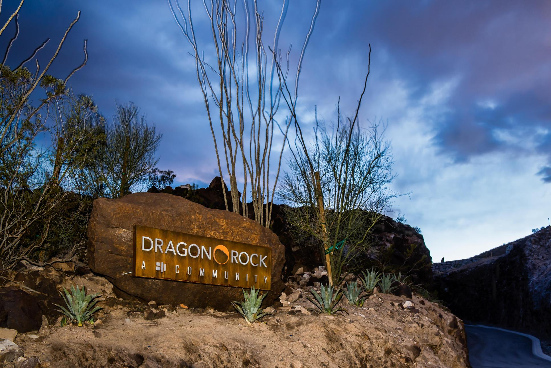 Dragon Rock Community Entrance