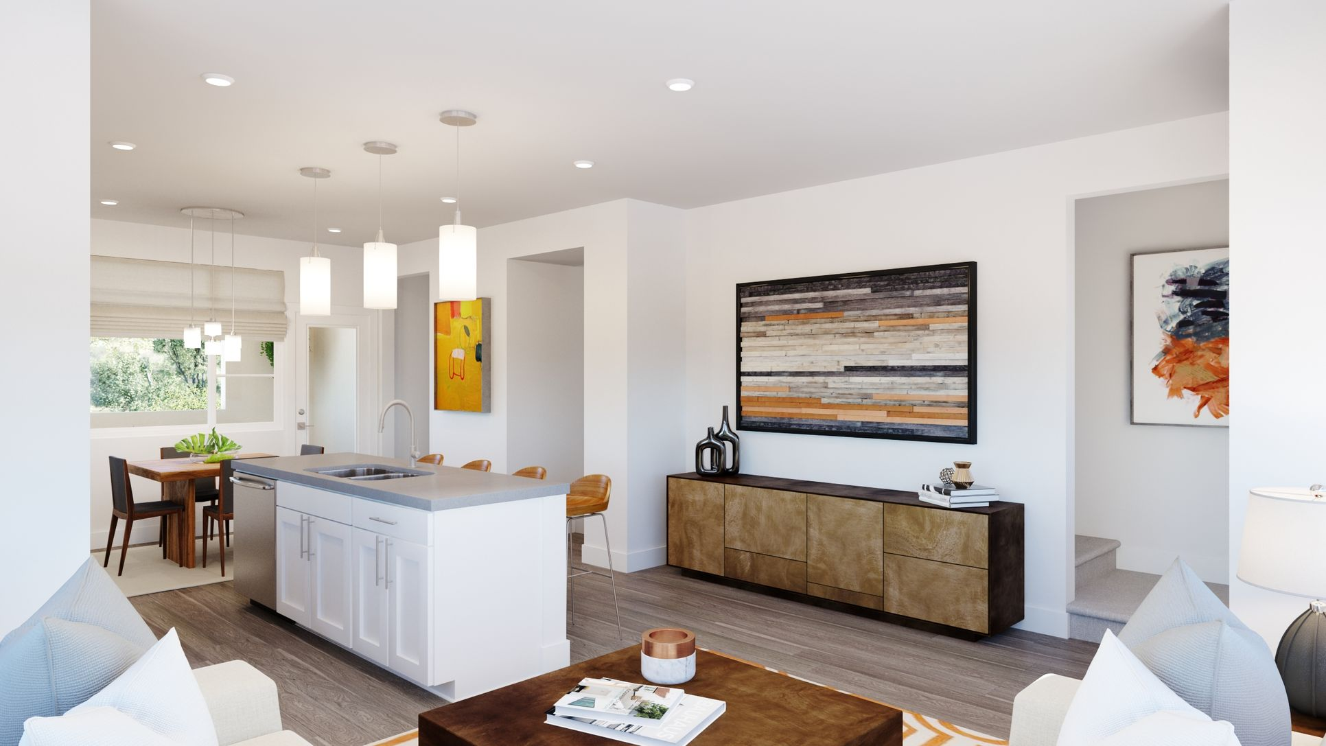 Volara Plan 2 Kitchen/Living:Volara Plan 2 Kitchen/Living