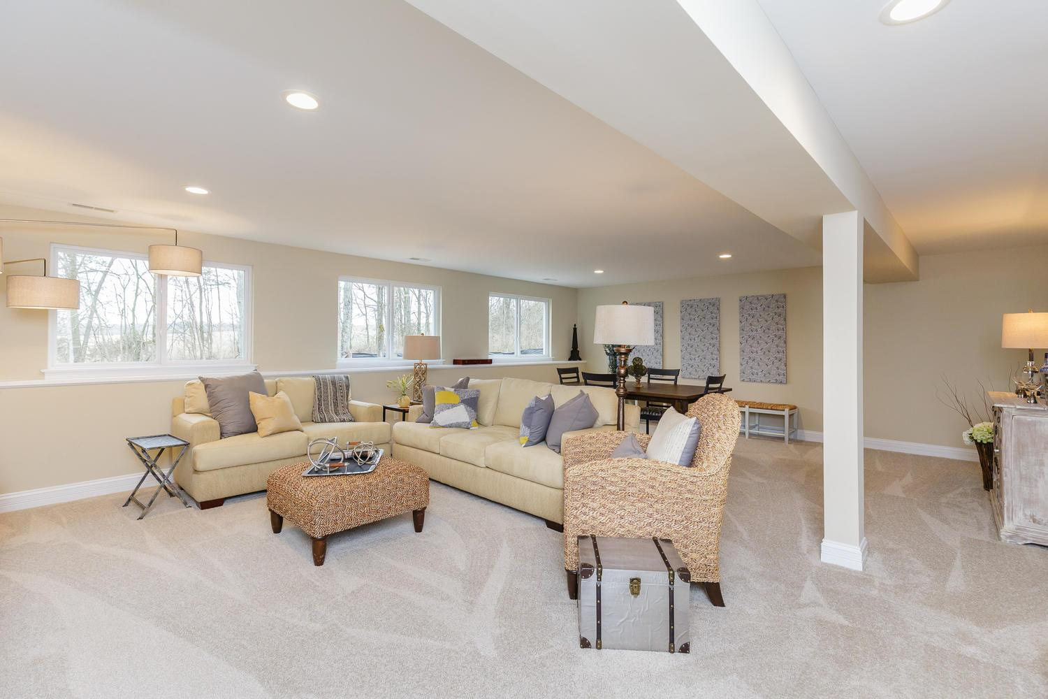 Finished Lower Level:All plans offer the option of a finished lower level