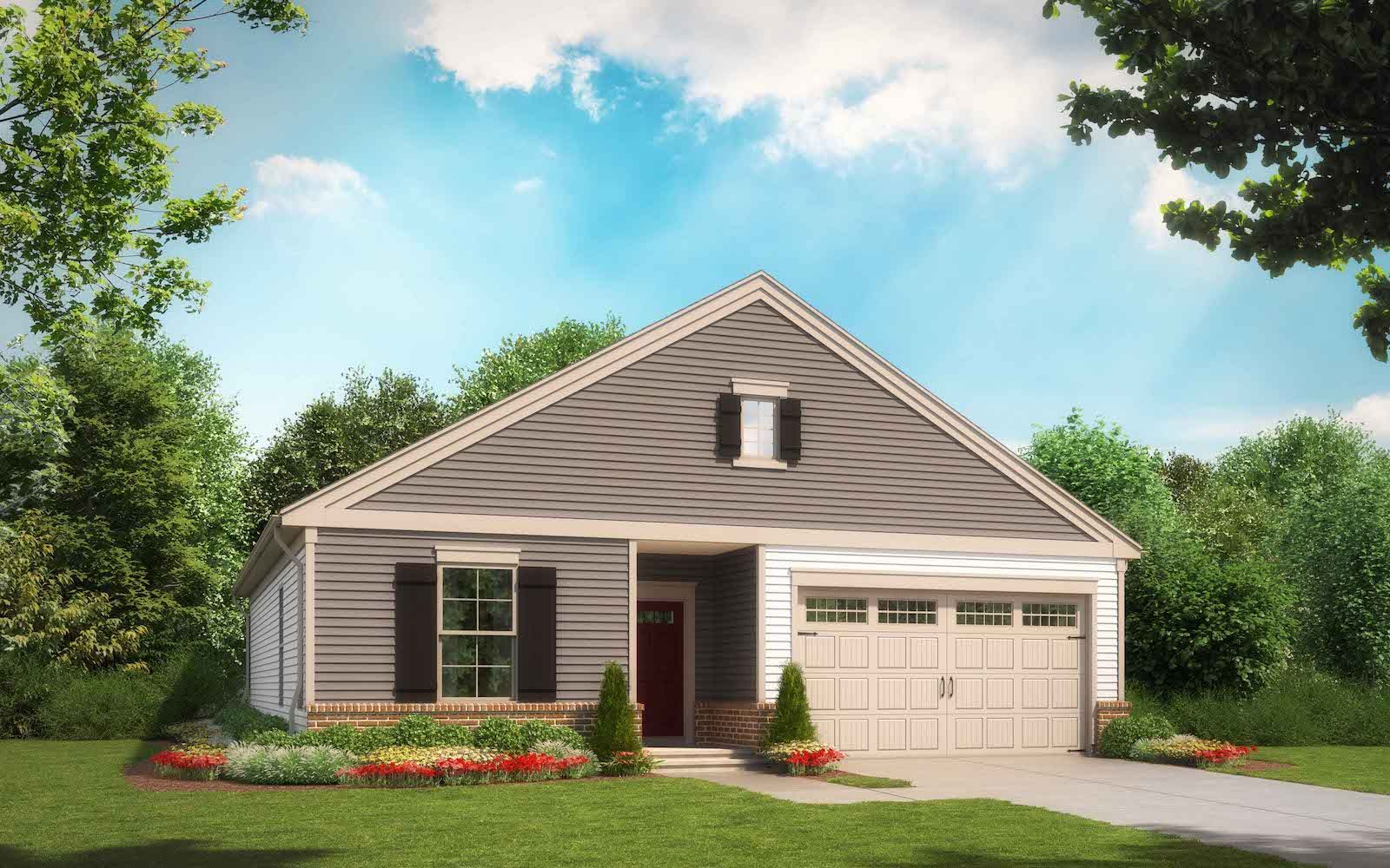 Exterior:Elevation 1 of the Pendleton a home design offered at Snowden Bridge in Stephenson VA by Brookfield Residential