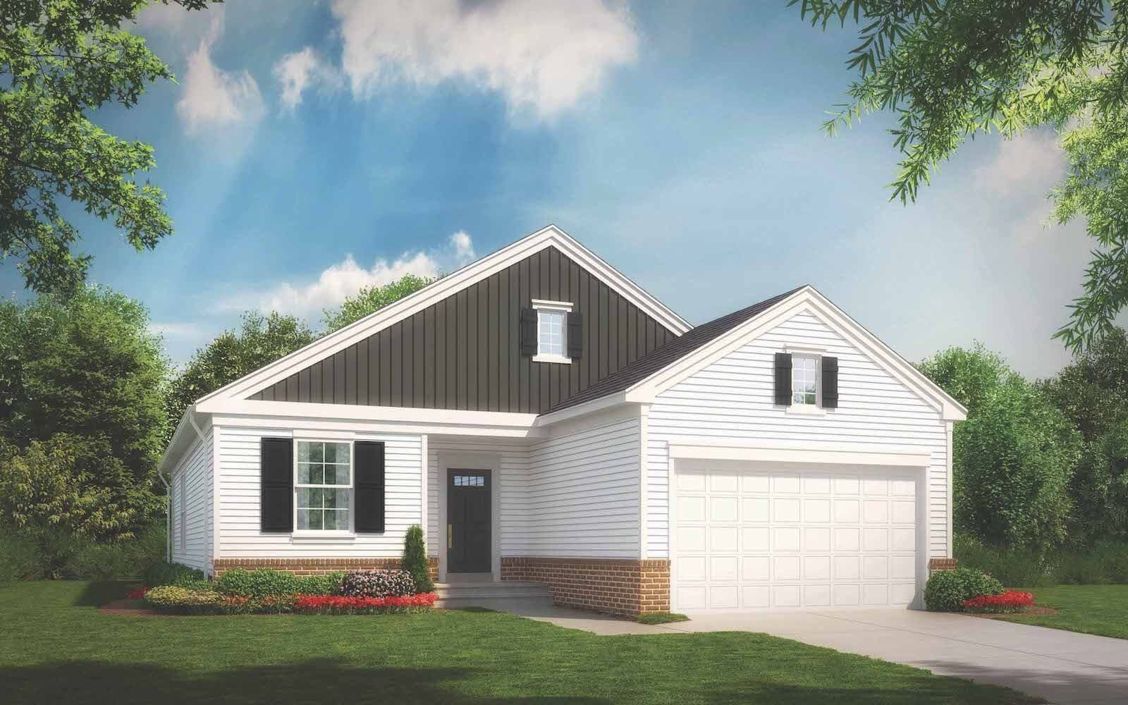 Exterior:Elevation 1 of the Riverton a home design offered at Snowden Bridge in Stephenson VA by Brookfield Residential