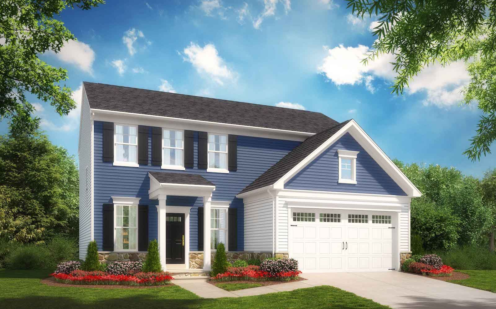 Exterior:Elevation 1 of the Sheridan a home design offered at Snowden Bridge in Stephenson VA by Brookfield Residential