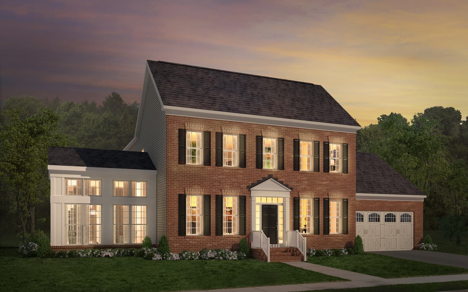Exterior:Elevation 1 of the Fillmore II a home design by Brookfield Residential at The Bluffs at Sleeter Lake