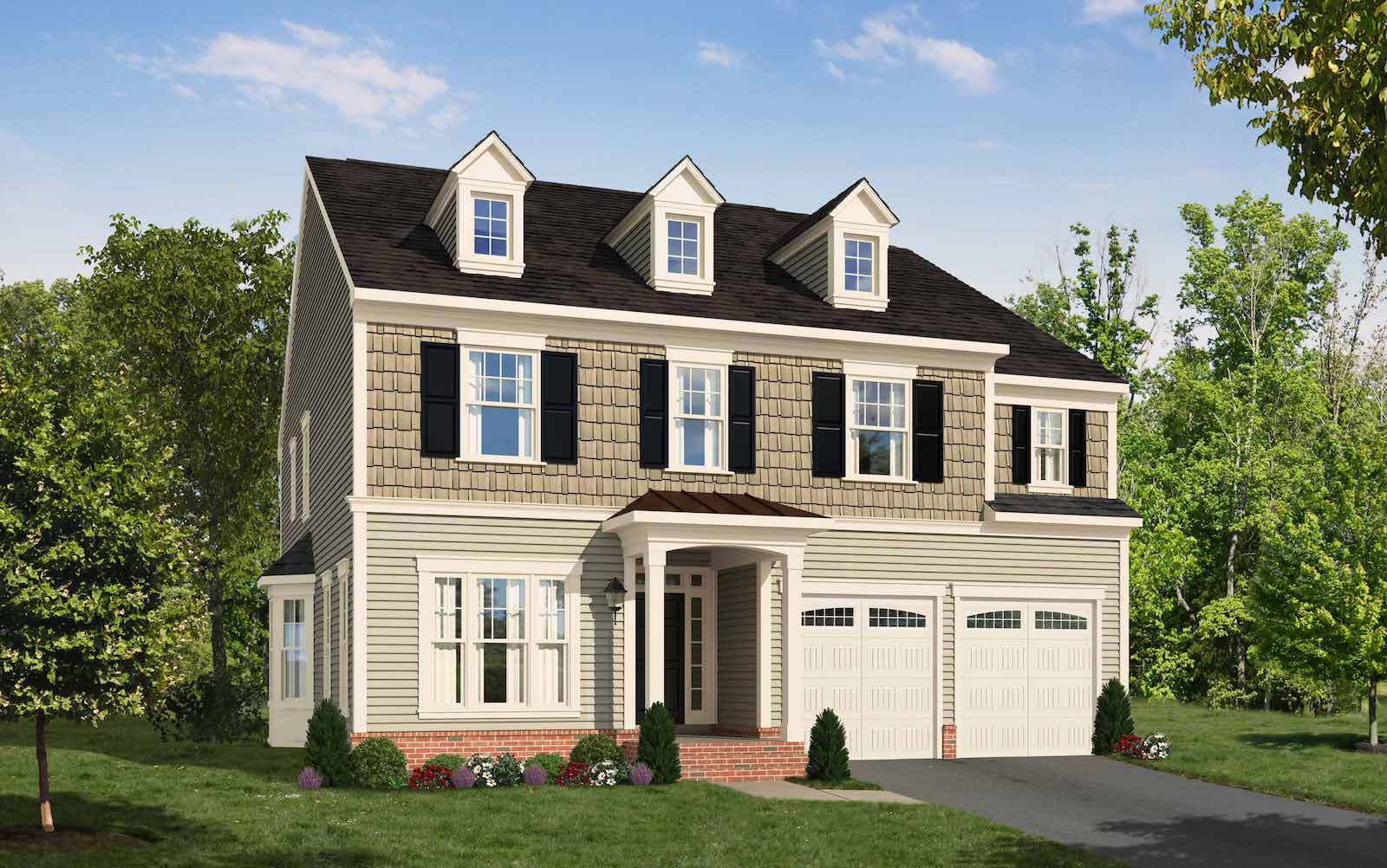 Exterior:Elevation 1 of the Sumner a home design by Brookfield Residential at Ridgeview
