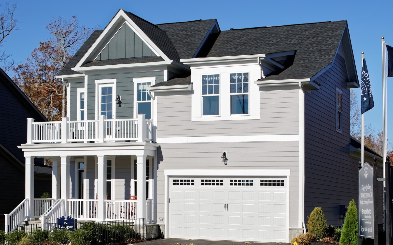 Exterior:An exterior view of the Torrington by Brookfield Residential at Potomac Shores