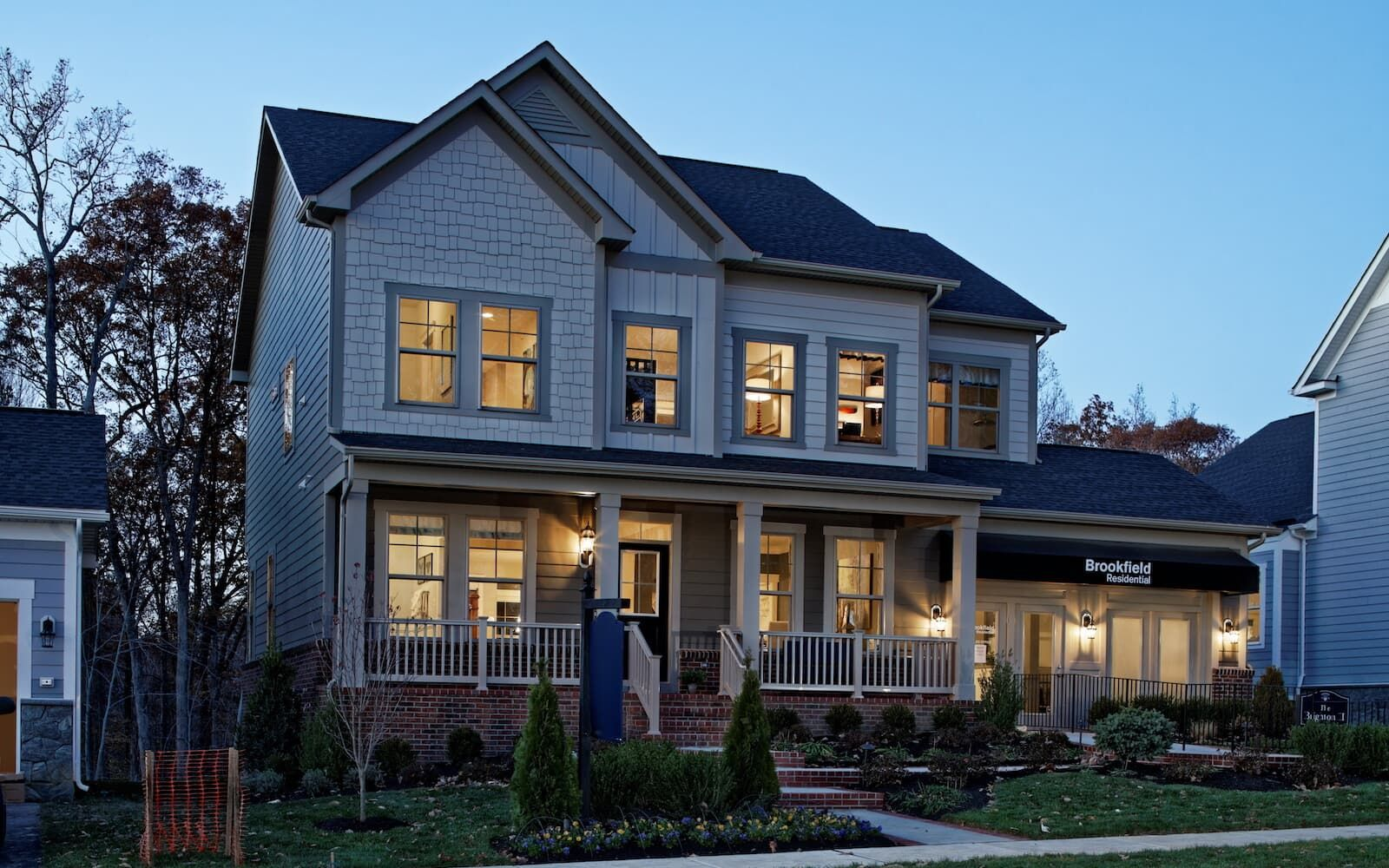 Exterior:A view of the exterior of the Brighton II by Brookfield Residential at Potomac Shores