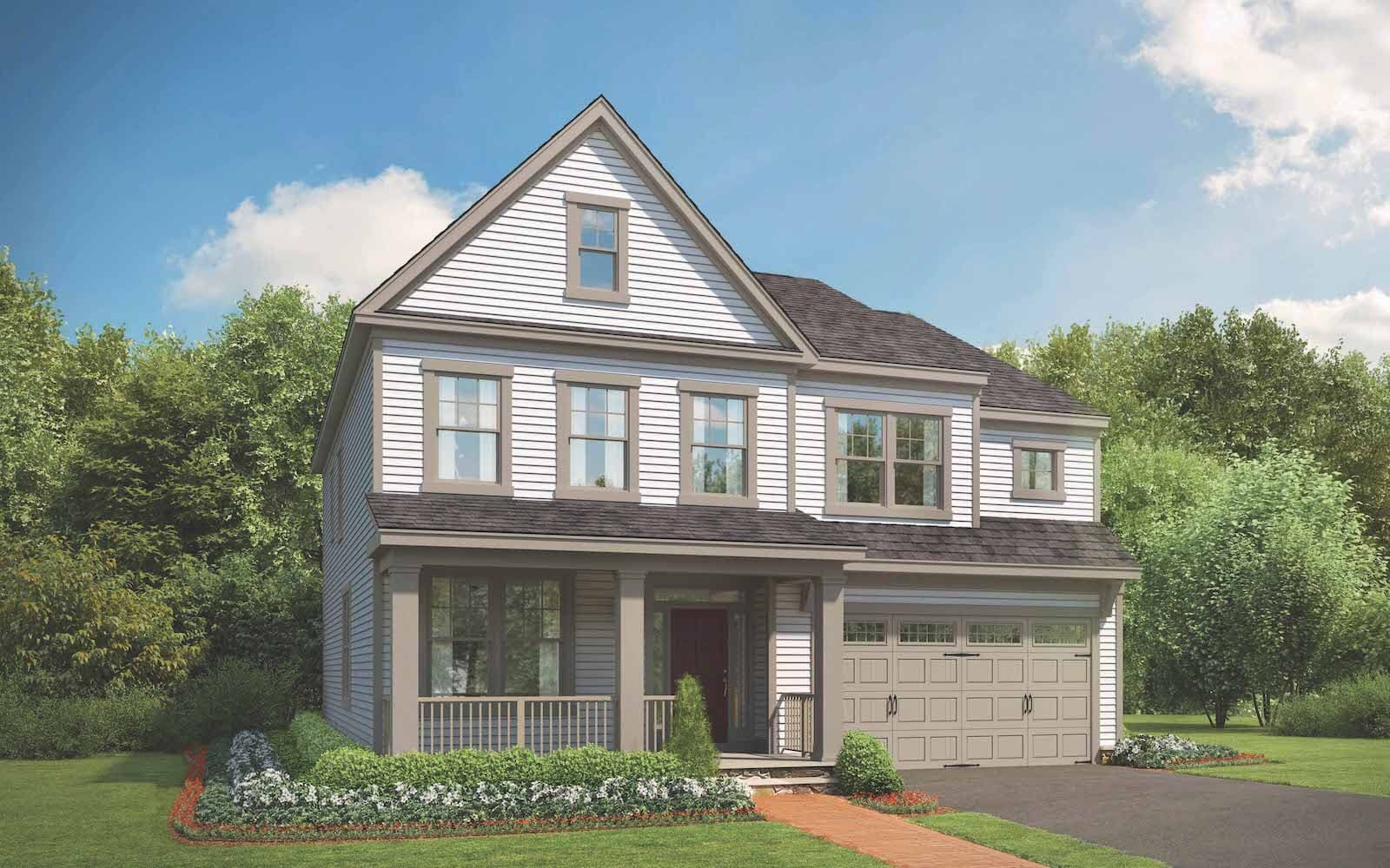 Exterior:Elevation 6 of the Sumner II a home design by Brookfield Residential at Potomac Shores