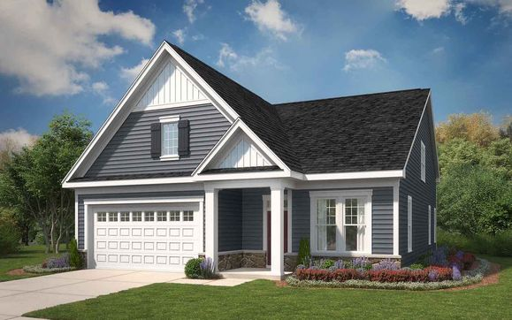 Exterior:Elevation 2 of the Picasso II, a home design offered by Brookfield Residential at Two Rivers.