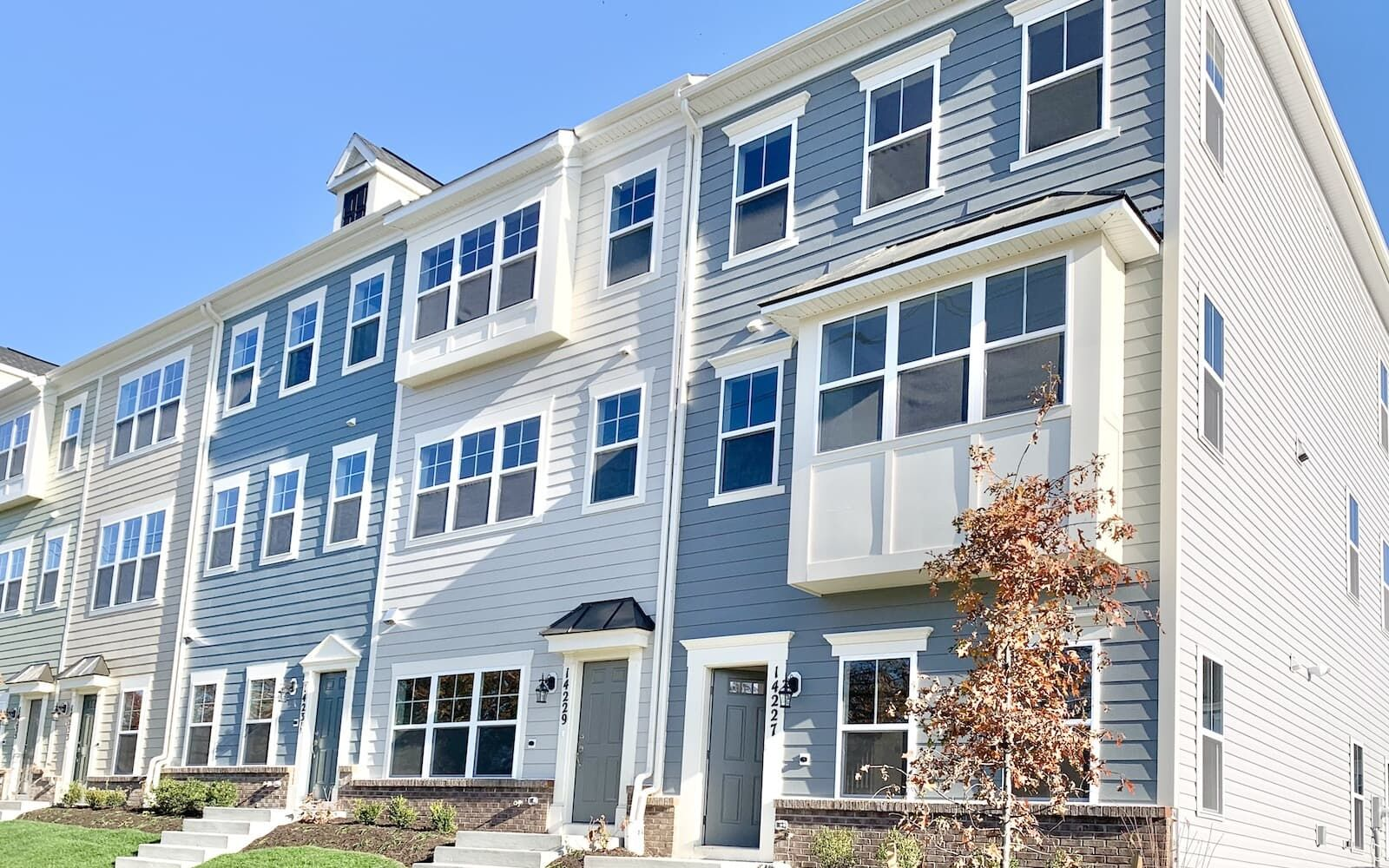 Exterior:The exterior of the Moorefield at Travilah Station by Brookfield Residential.