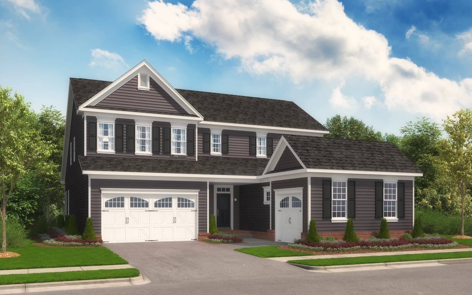 Exterior:Elevation 1 of the Weymouth a home design offered by Brookfield Residential at Two Rivers