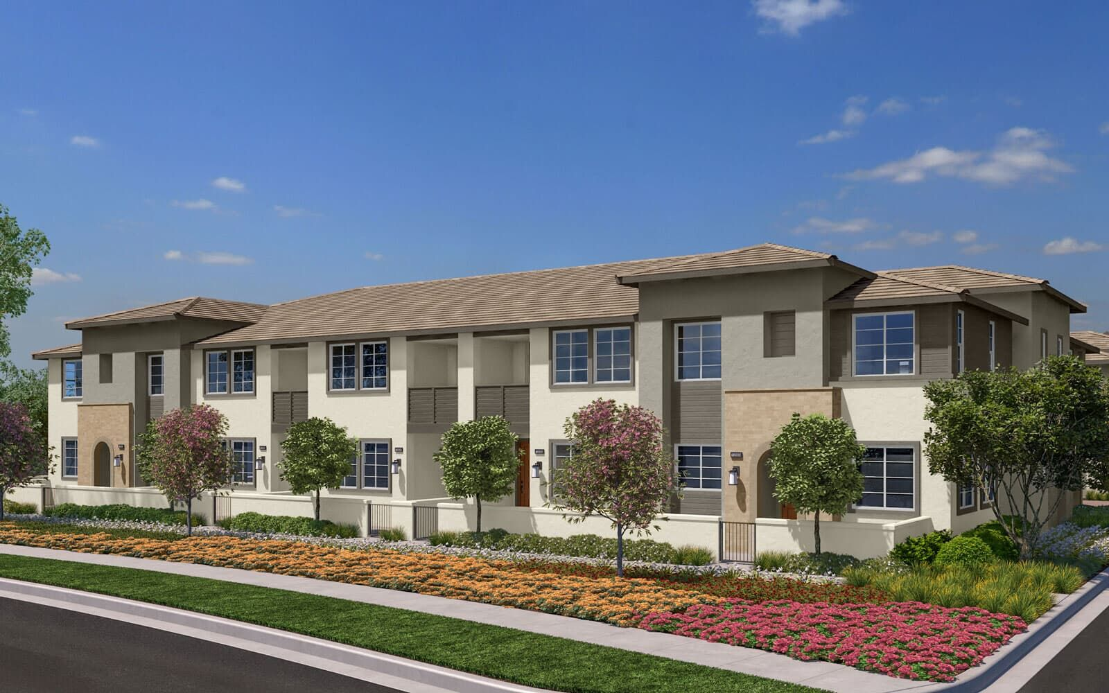Exterior:Exterior Rendering 1A Trim 2 Citrus Canvas Park at New Haven in Ontario Ranch CA Brookfield Residential
