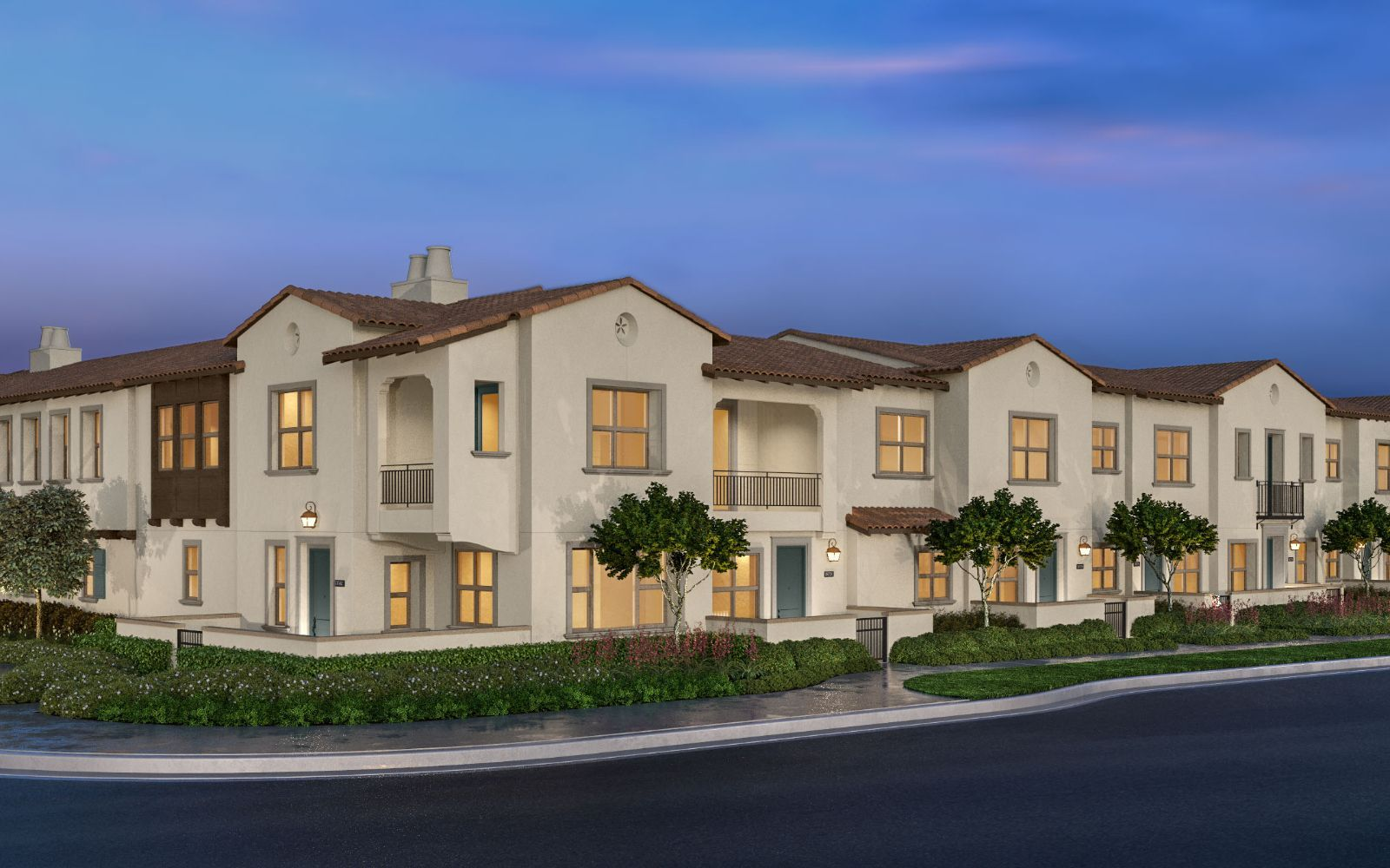 Exterior:Bayberry at The Groves in Whittier Exterior Rendering
