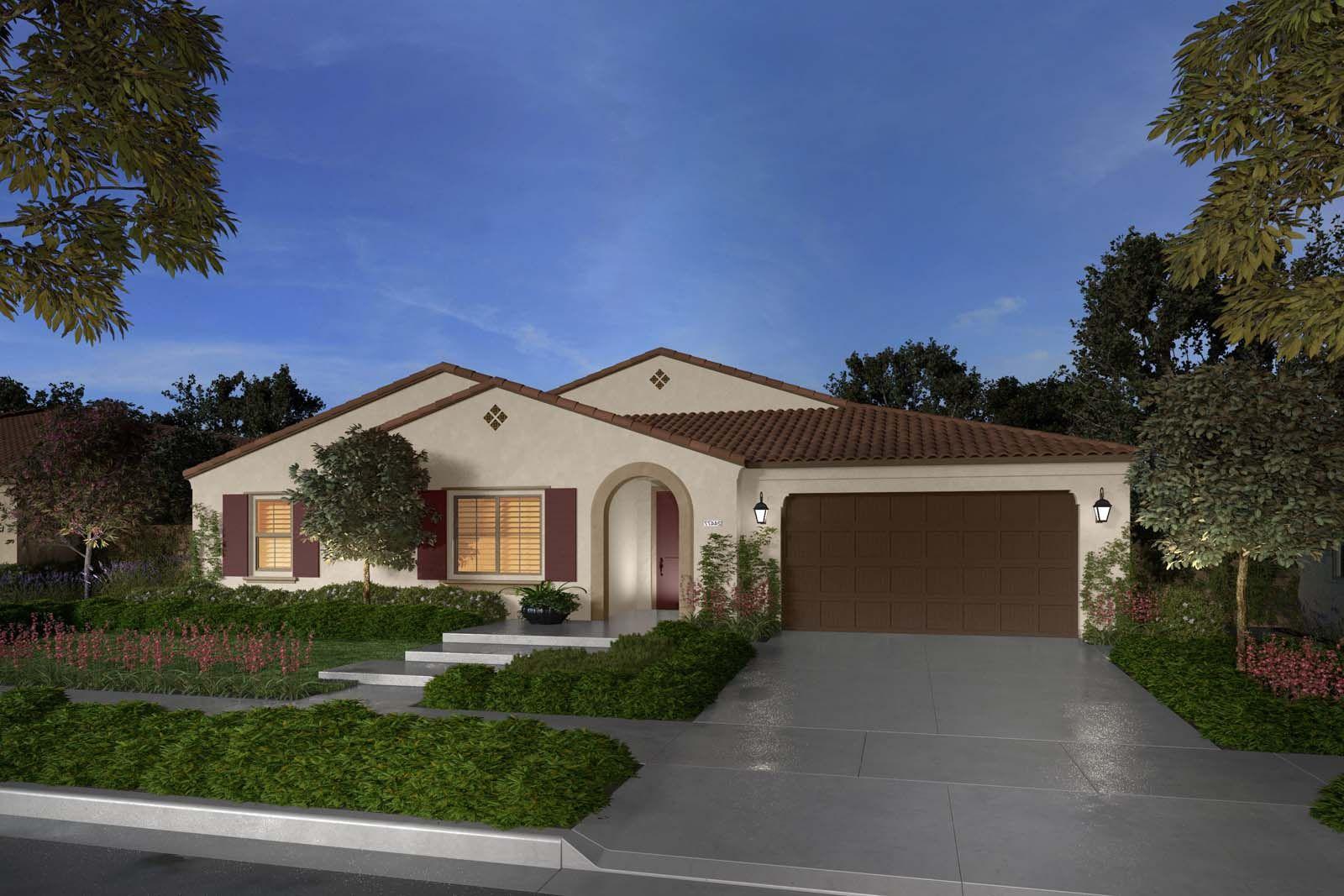 Exterior:Residence 1AR rendering Savannah at Audie Murphy Ranch in Menifee Brookfield Residential