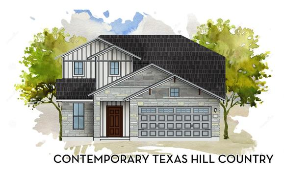Contemporary Texas Hill Country Elevation