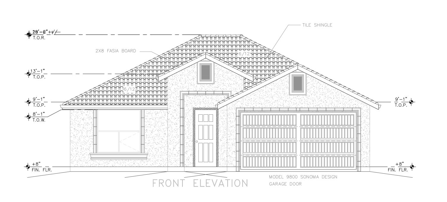 Plan 1550:Front Elevation