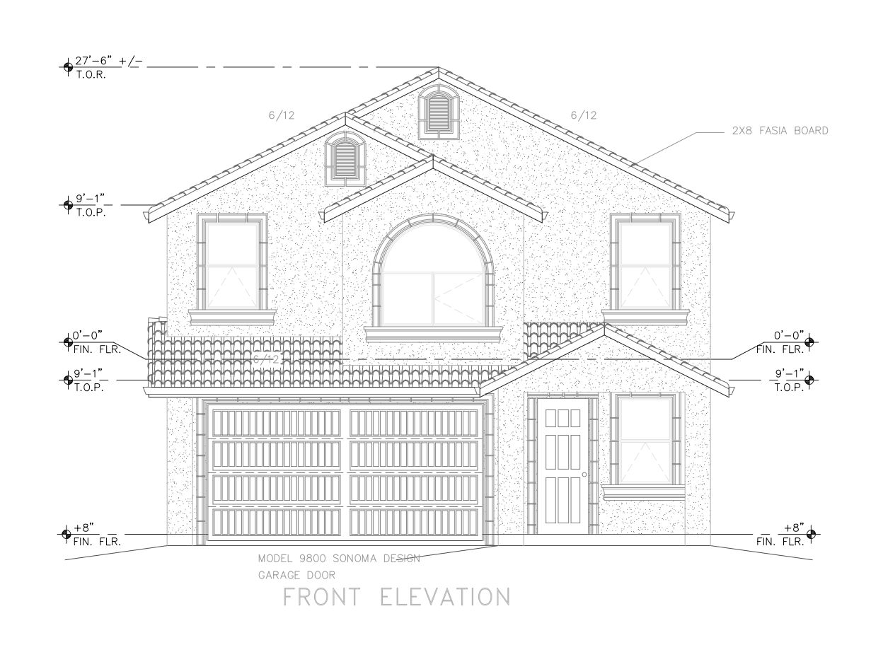 Plan 2014:Front Elevation