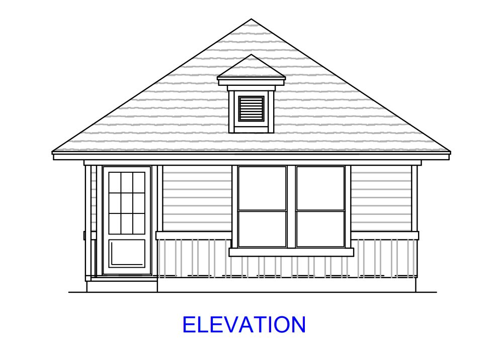 Plan 1300:Elevation