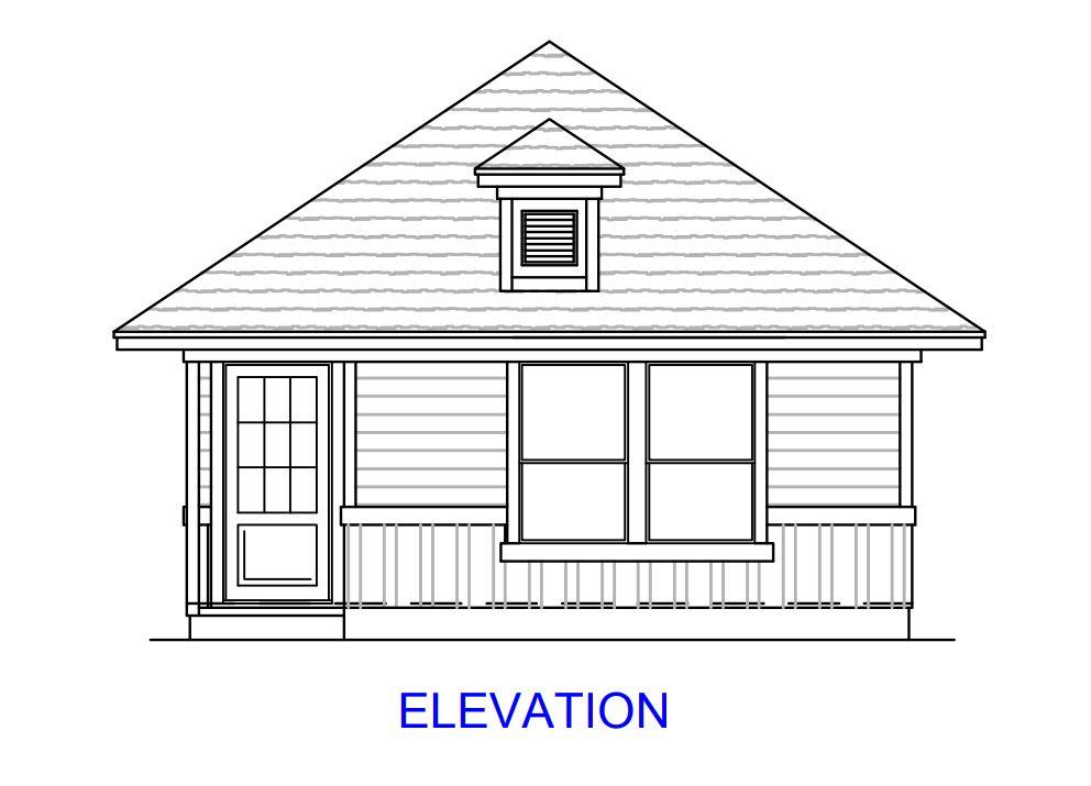 Plan 1300:Elevation