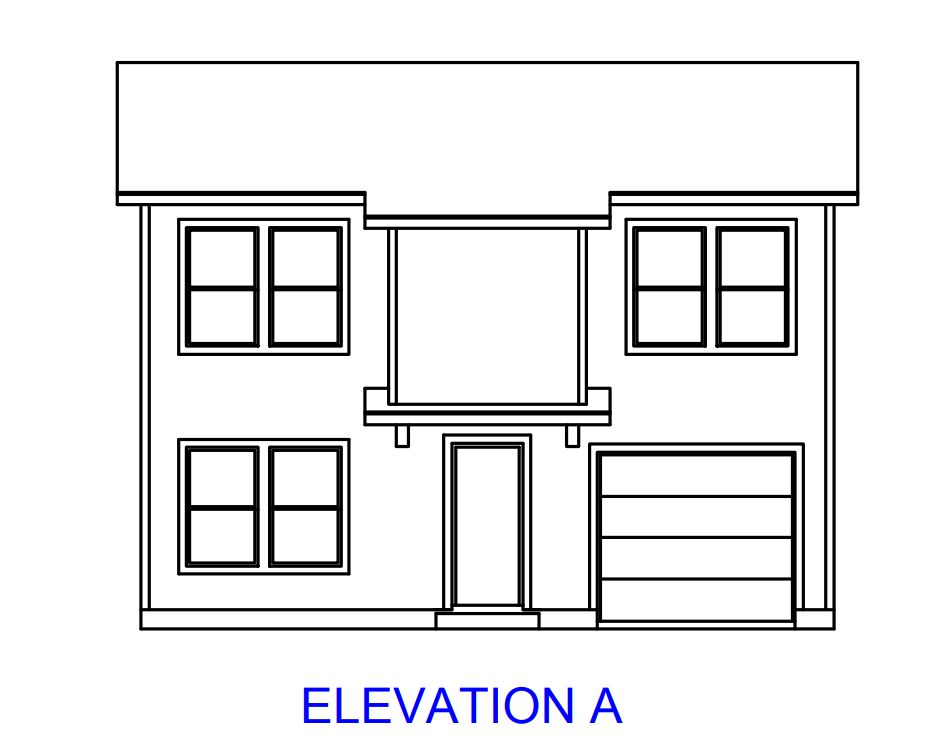Plan 1549:Elevation A