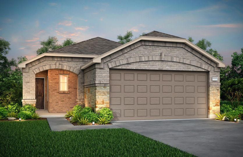 Adams:The Adams, a 1-story new construction home showing Home Exterior R